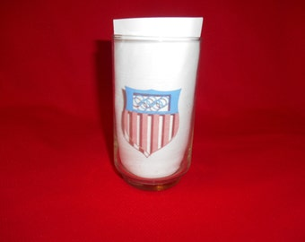 One (1), 1980, USA Olympic Drinking Glass