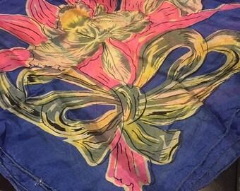 Flowery Silk Scarf