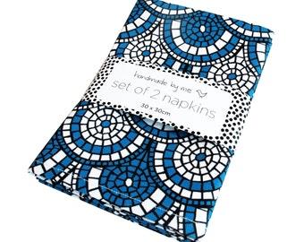 Midnight Blue Mosaic Napkins (set of 2)