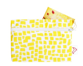 Yellow Squares Pattern Purse
