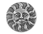 Danforth Sun 7/8 inch ( 23 mm ) Pewter Metal Shank Button