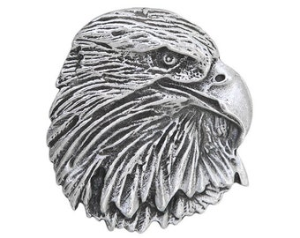 3 Eagle Raptor 1.25 inch ( 32 mm ) Pewter Buttons Antique Silver Color