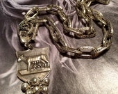 1940's Wolf Shewolf Assemblage Necklace