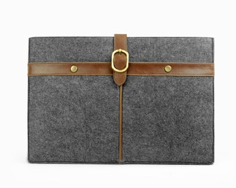 "Multiple pockets Felt laptop sleeve Macbook sleeve Macbook 13"" case Laptop Case Laptop bag iPad Mini sleeve with Phone pocket Custom E2380"
