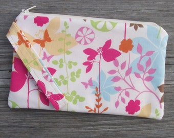 Butterfly Wristlet,Bag, Wristlet Purse, Wristlet Clutch, Cell Phone Wristlet, Bags & Purses, iPhone Wristlet, Gift for Her, Fabric Bag
