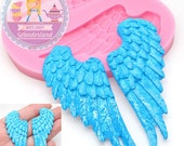 Angel Wings Mold 429L* Cake Decoration Cake topping Fondant Chocolate Melts Candy Jewleery fimo Mold BEST QUALITY