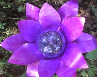 Plum Aluminum Flower Walkway or Garden  Solar Light
