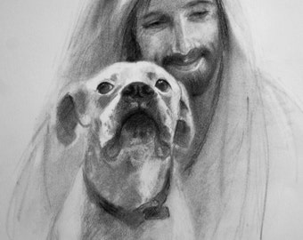 Boxer with Jesus.  The Old Boxer