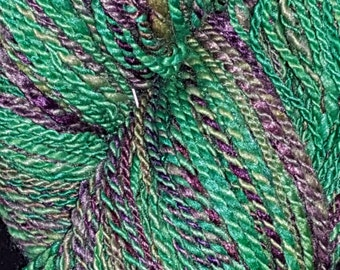 No. 47 - Green and Purple Handspun Yarn
