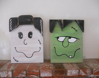 SALE Ready to ship Frankenstein and Bride Pair