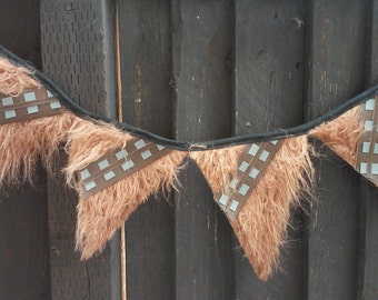 Space Wars Chewbacca Party Banner