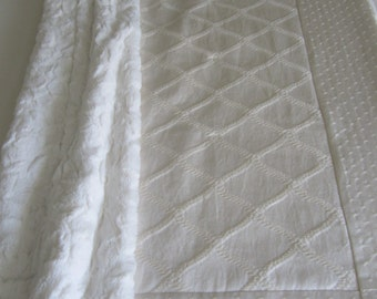 Neutral Baby Quilt: luxury baby blanket, neutral baby bedding, Oatmeal & Cream cotton luxe nursery collection, Custom Made to Order