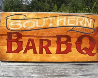 Bar B Q   Sign, original, hand painted, ZF BQ 4
