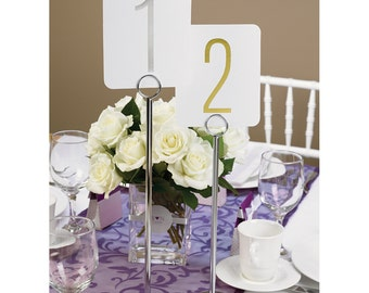 Table Number Stands, Wedding Table Number Holders, Reception Sign Holders, Menu Holders, Number Holders, Event Sign Holders, Choice of Size