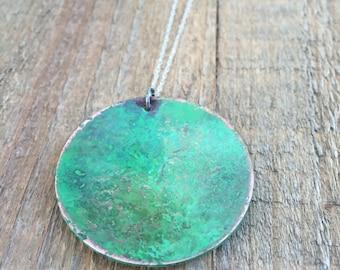Gypsy green necklace