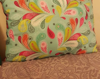 Birds of a Feather Paisley hand sewn pillow.