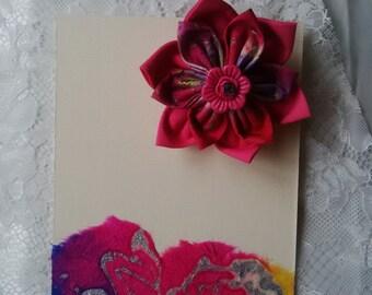 Fabric hair flower accessory at funkycrafs