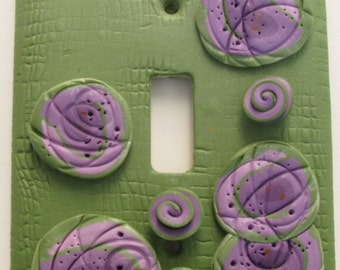 Polymer Clay Light Switchplate