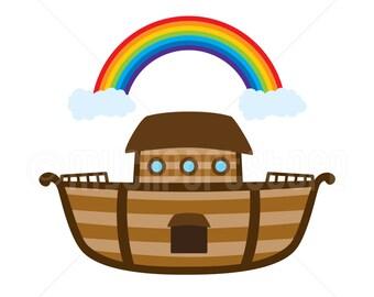 Clipart - Noah's Ark / Bible Stories, Ship, Boat (Single Image) - vector graphics, digital clip art, digital images, commercial use clipart