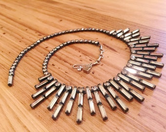 Weiss art deco rhinestone necklace