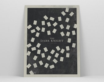 The Dark Knight ~ Minimal Movie Poster, Retro Minimalist Art Print by Christopher Conner