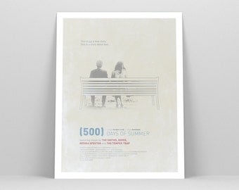 "500 DAYS OF SUMMER ~ Minimalist Movie Poster, 12x16"" Film Poster, Minimal Movie Poster Art Print by Christopher Conner"