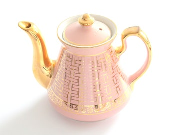 Vintage, Tea Pot by Hall, Dusty Rose, Tea Pot, Gifts for Her, Tea Party, Made in U.S.A., Little Princess Birthday Party