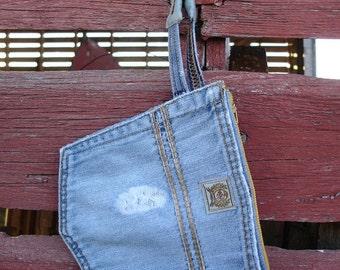Upcycled Denim Pocket Wristlet