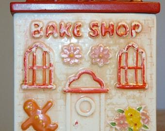"Vintage Judy Of California Cookie Jar ""Bake Shop"" 1977 Made In U.S.A."