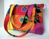 Floral Poppy Print Handbag, Shoudler Bag, Purse, Tote