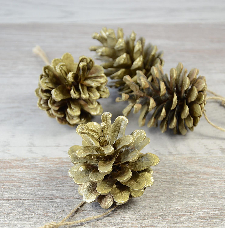 Natural Christmas Tree Ornaments Pine Cone Xmas Decoration Rustic