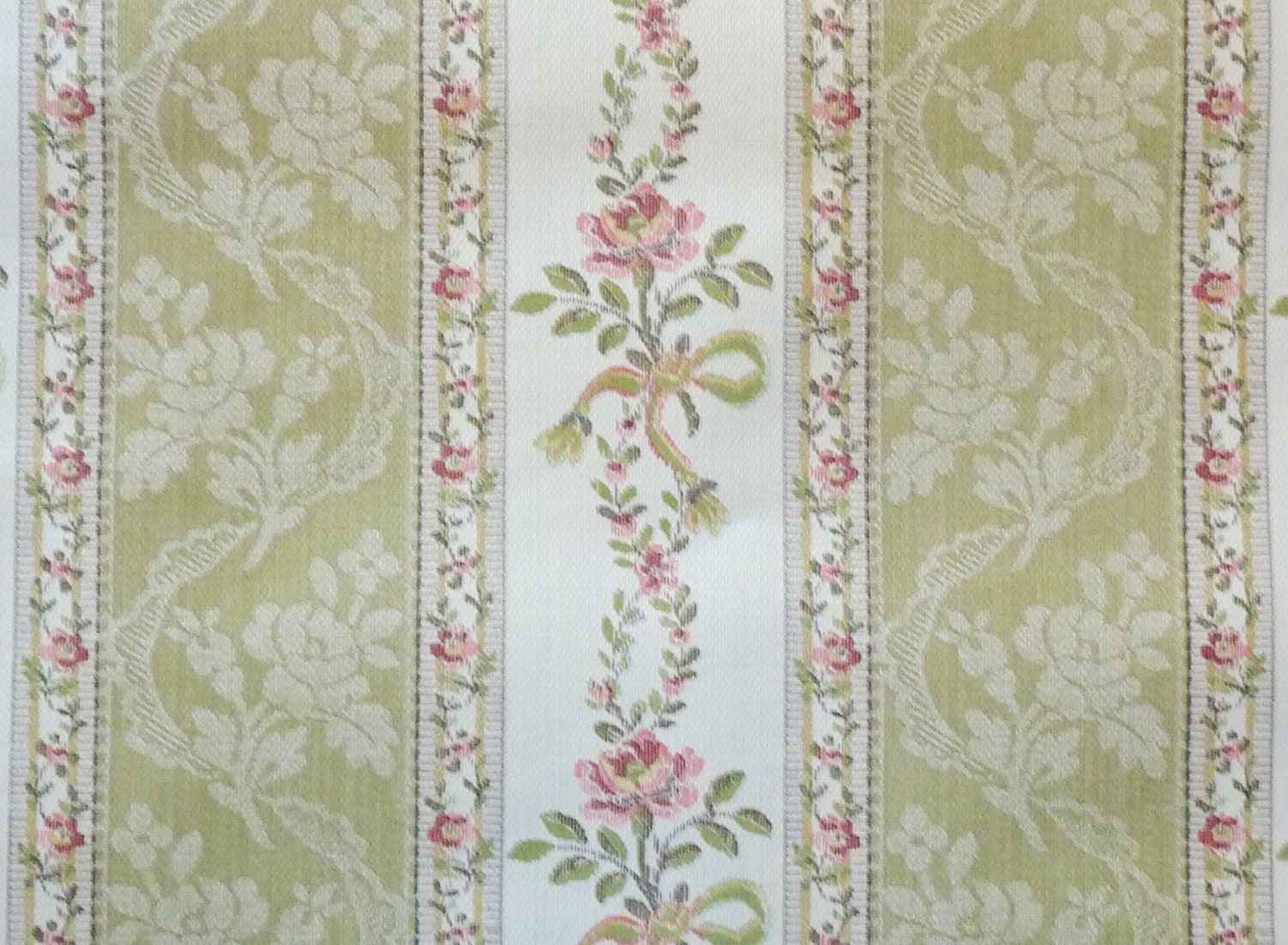 Reserved for s y vintage wall paper by the yard for Old french wallpaper