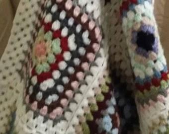 Made with love from Grandma's scrap yarn.....