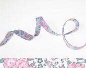 1 yard - Liberty of London Tana Lawn fabric, bias tape - print: Felicite Rose Dragée