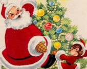 Santa Claus and Lili Monk - a vintage Christmas picture book