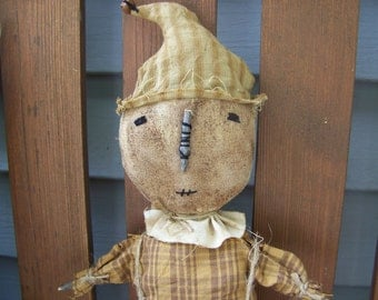 Primitive Scarecrow Hanger/Doll Grungy Fall Decor