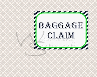 Baggage Claim Train Party Printable