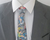 Men's Cycling Necktie - Tie -  cotton fabric ~ Bike tie ~ cycle necktie ~ Velo necktie ~ cyclists