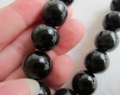 """16mm, Natural Rainbow Obsidian, Round Beads - Available Individually, in Pairs, and in 1/2 & Full (8"""") Strand Lengths"""