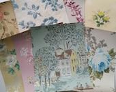 Antique Creme de la Creme Wallpaper Scrap Pack 8 x 10 Sheets   French Shabby Chic Papers   Floral Wall Paper