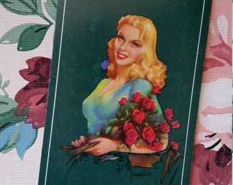 Sweet Valentine Vintage Pin Up Playing Cards