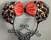 Halloween Mouse Ears // Pumpkin Mouse Ears // Halloween Minnie Ears // Trick or Treat // READY to SHIP // by Born Tutu Rock