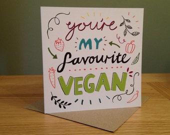 Favorite Vegan Eco Friendly Greetings Card