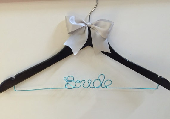 """Beautiful """"Bride"""", """"Maid of Honour"""" and """"Bridesmaid"""" wedding hangers with stunning large bow, the perfect gift"""