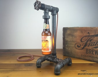 Ballast Point - Craft Beer Bottle Lamp - Industrial Lighting - Steampunk Furniture - Man Cave - Bar Decor
