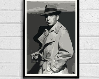 Humphrey Bogart Pop Art Mini Poster 11 x 17