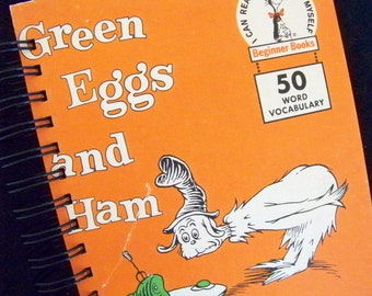 Dr Seuss Green Eggs and Ham book journal blank diary
