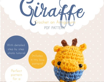 Giraffe Amigurumi Pattern, Giraffe Crochet Pattern, Giraffe Amigurumi PDF pattern