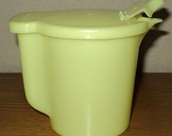 Vintage Tupperware creamer container 574 pastel yellow