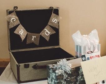 Cards Banner, Cards Sign, Wedding Cards, Wedding Cards burlap banner, Cards burlap banner, Wedding Cards Sign